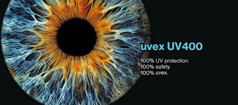 100% uvex UV ochrana 400nm